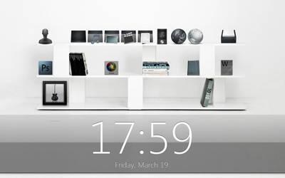 Black and White Shelf by mfjunknown