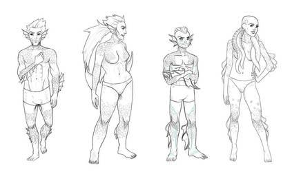 Levia Race types by lordturtlemonk