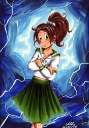 Inktober 27 - Thunder by Merani