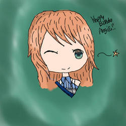 Happy birthday Megiru by Cookieking2000