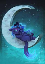 Moon Grump by elbdot