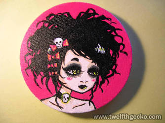 Goth Girl Mini-Painting by Twelfthgecko