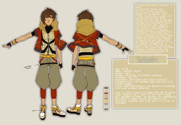 Satoshi _Character Ref by maplekeurig