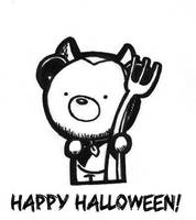 Happy Halloween Bear by champythestripe