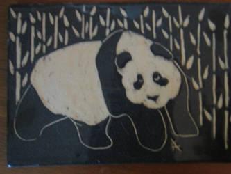 Panda and Bamboo by snugglekitty