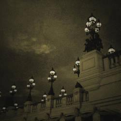 no title (bridge lamps pictorial) by filmnoirphotos