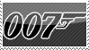 James Bond 007 stamp by Bourbons3