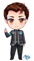 Connor - Detroit Become Human - Chibi by NixNovus