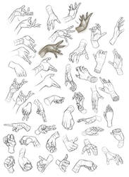Female Hand Study 1 by Dhex
