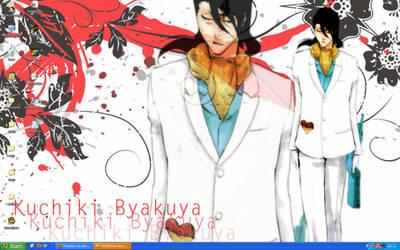 Byakuya 2 Wallpaper by Frywenn