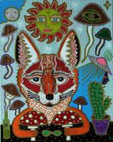 Fox and Shrooms by arturasrozkovas