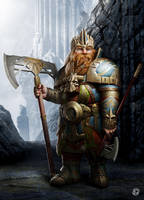 Dwarf lord by DavidGaillet