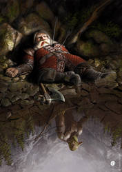 The death of Balin by DavidGaillet
