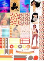 Pocahontas - Stickers Imprimibles by AnacarLilian