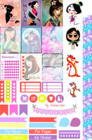 Mulan - Stickers Imprimibles by AnacarLilian