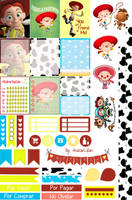Jessie Cowgirl - Printable Stickers by AnacarLilian