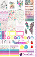 Tribal Rainbow-Free Printable Stickers 4 Planners by AnacarLilian