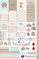 Pusheen - Free Printable Stickers by AnacarLilian