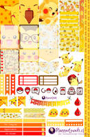 Pikachu Printable Stickers by AnacarLilian