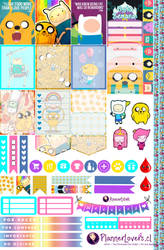 Adventure Time Free Printable Planner Stickers by AnacarLilian