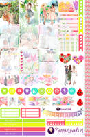 Spring Girls - Free Printable Stickers 4 Planners by AnacarLilian