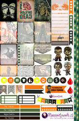 TheWalkingDead's Premiere Printable Stickers by AnacarLilian
