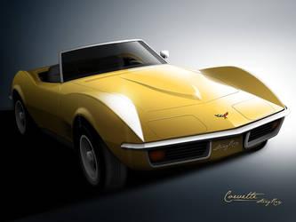 Corvette Sting-Ray - 1971 by mukundnadkarni