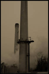 Pittsburgh Smokestack by sectorgfx