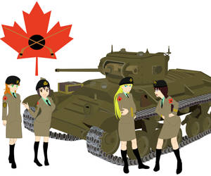 Girls und Panzer Team Canada by Heavy-McFatso