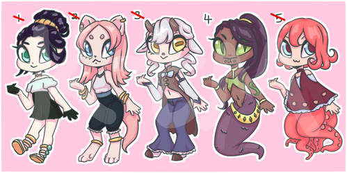 Species Variety Point Adopts [OPEN 1/5] by FrozenDiamond267