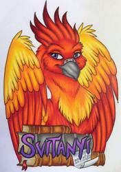 Svitanyi Phoenix Conbadge by Magelet