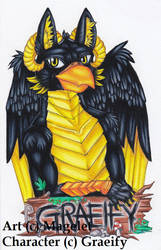Graeify Convention Badge Commission by Magelet