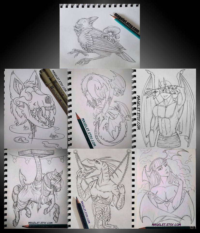 Goretober Collage by Magelet