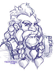 another dwarf sketch by PEPPERTODE