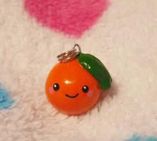 Cute Orange Fruit Charm by Panduhmonium