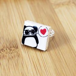 Nerdy Panda Love Scrabble Ring by Panduhmonium