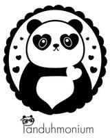 Panda Heart Cameo by Panduhmonium