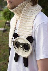 Nerdy Panda Scarf by Panduhmonium