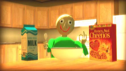 Baldi Eats His Cereal by NitsuaTribalGod