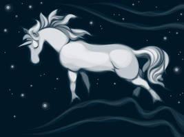Midnight Unicorn by lilvdzwan