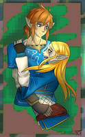 Zelda And Link by TheRickMaster