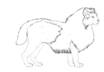 Singtoo X qilin cross bobtail lineart by SheduMaster