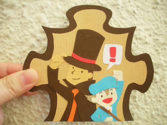 Professor Layton paper thingy by decembertiggerX