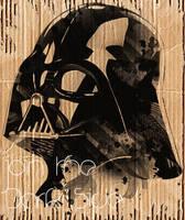 Darth Vader in Cardboard by nicollearl