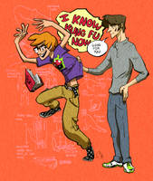 It's ok, he knows Kung Fu by animatrix1490