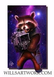 Rocket Raccoon by MrWills