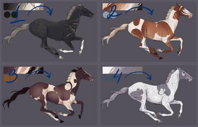 Horses for sale/OPEN 1/4 by WhiteLiesArt