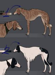 Sighthound adopts/OPEN 1/2 by WhiteLiesArt
