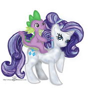 Crystal - Rarity and Spike by ChiuuChiuu