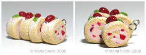 Strawberry Sponge Cake Charms by chat-noir